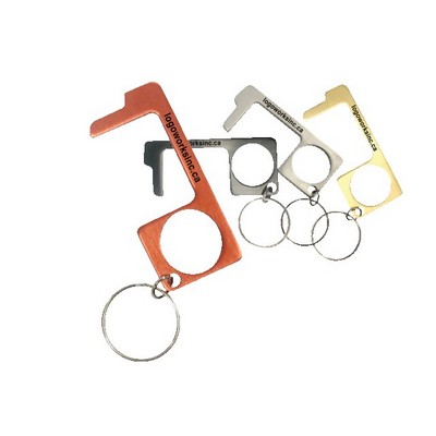 NO Touch Keychain - Anodized Aluminum