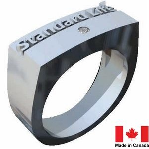 Corporate Ring - Sterling/Stainless Silver